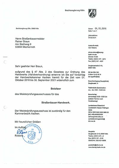Beisitzer Prüfungsausschuß