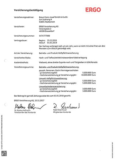 BetriebshaftpflichtversicherungErgo
