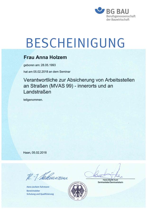 Urkunde R. Braun Leistungswettbewerb